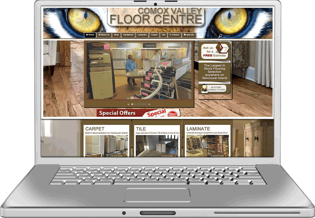 Comox Valley floors Website design