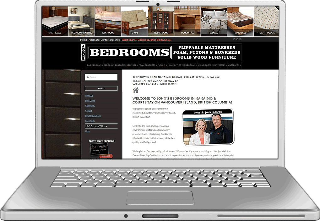 John's Bedrooms Website Design