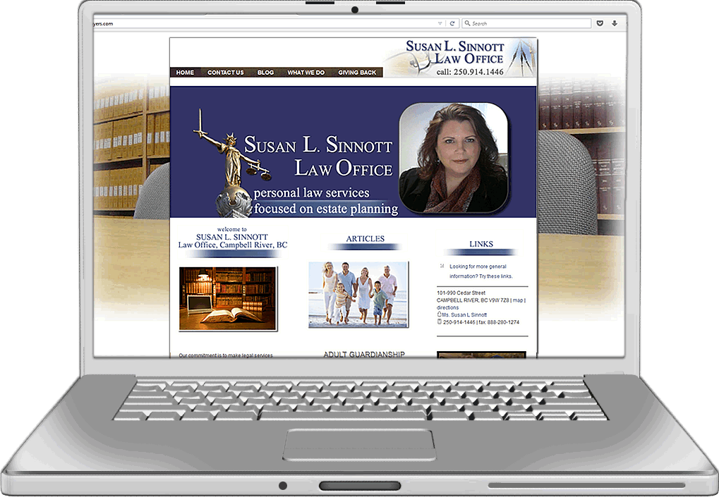 Susan Sinnott Law Office Website Design