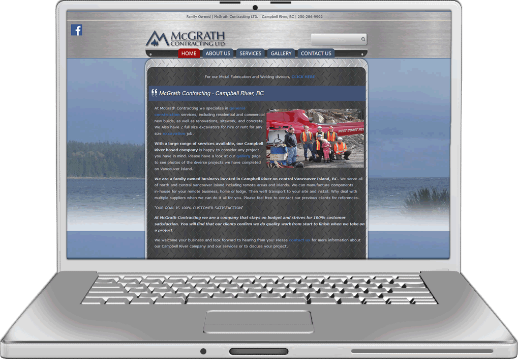 McGrath Contracting Website Design