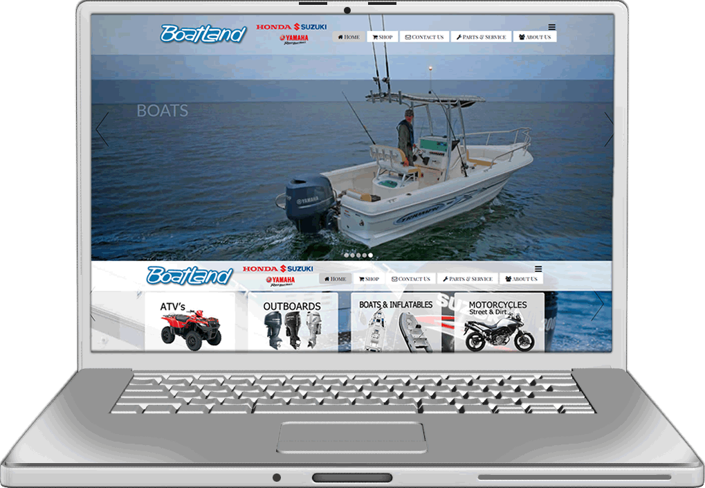 Campbell River Boatland Website Design