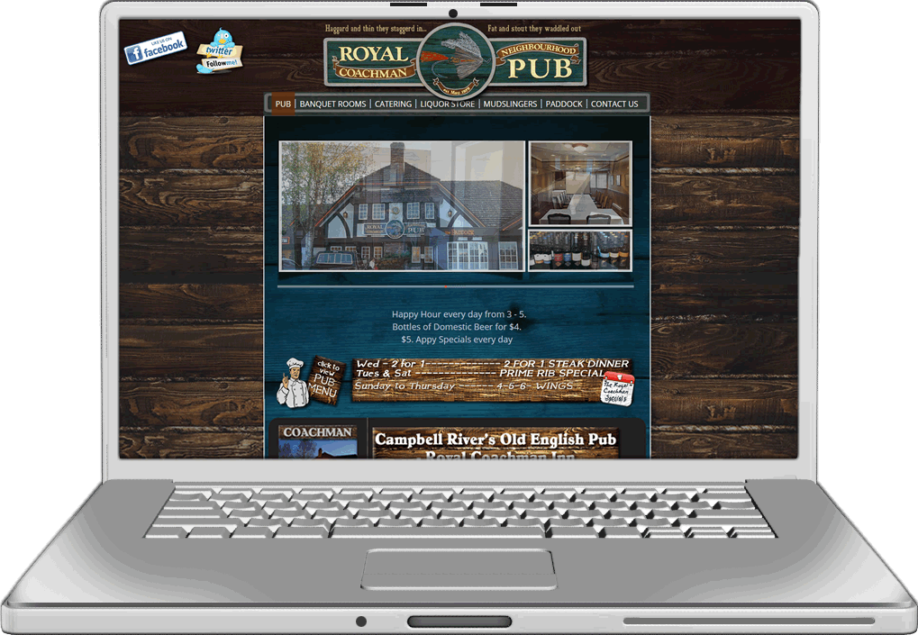 The Royal Coachman Inn Website Design