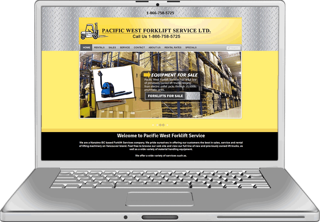 Pacific West Forklift Website design