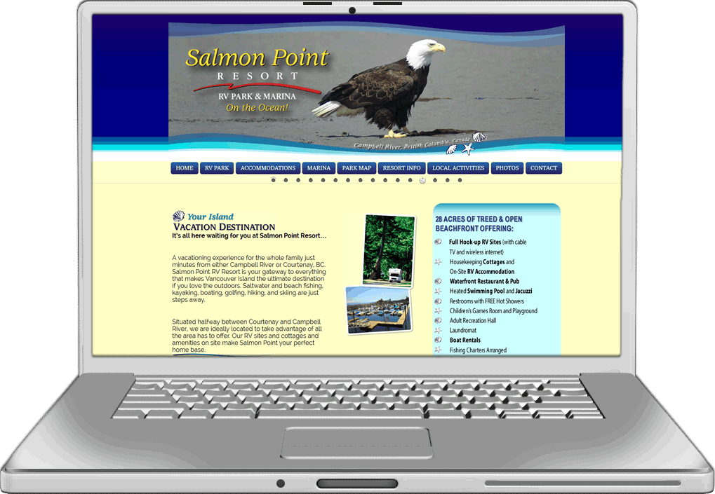 Salmon Point Website Design Website Design