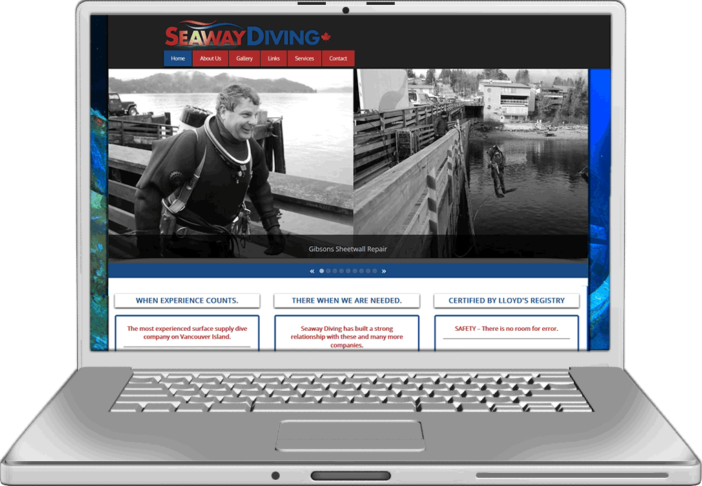 Seaway Diving Website Design