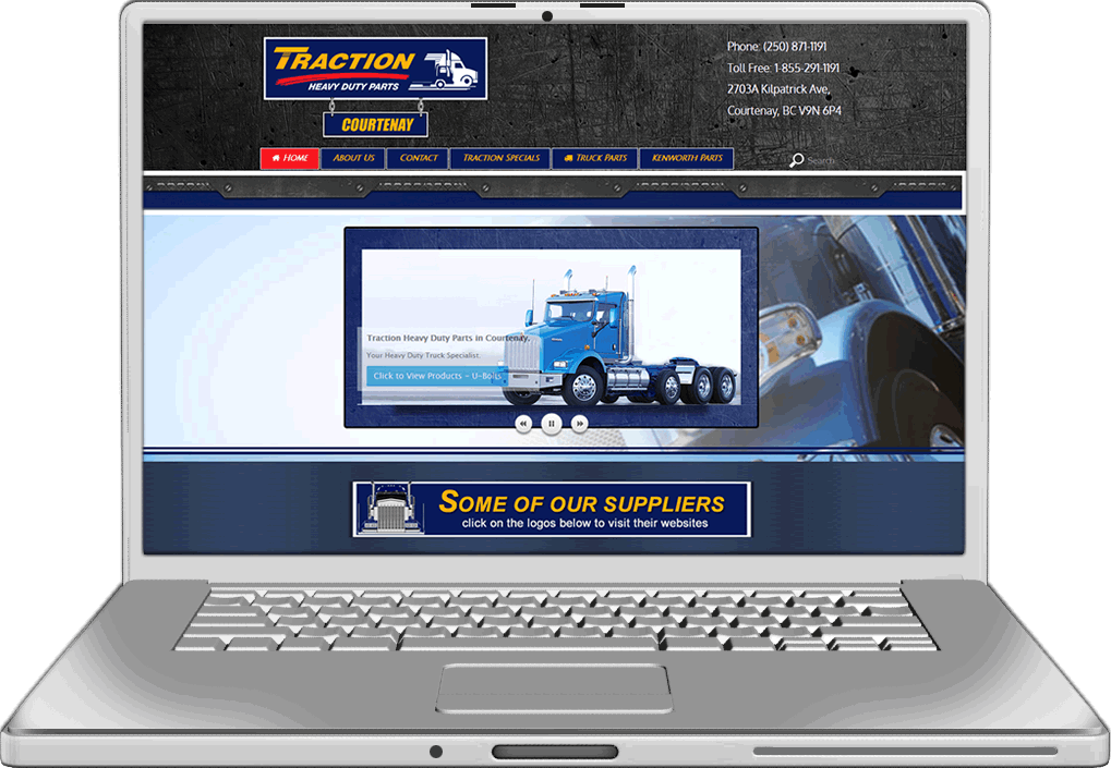 Traction Auto Parts Website Design