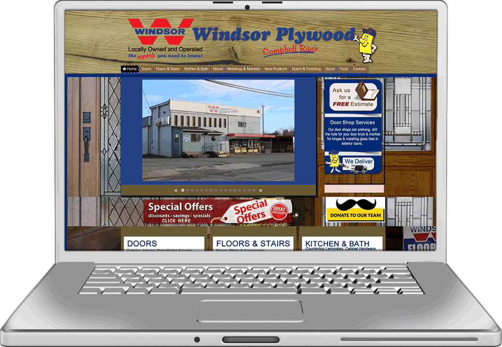 Windsor Plywood Website Design
