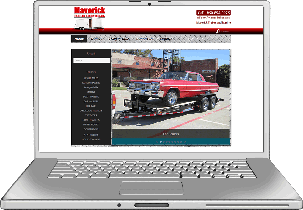 Maverick Trailer Website Design