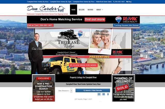 Real Estate Website Design DonCorder Website
