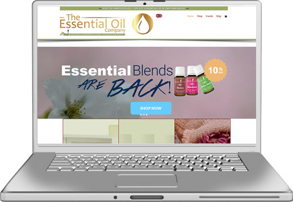 Essential Oil Company Website Design