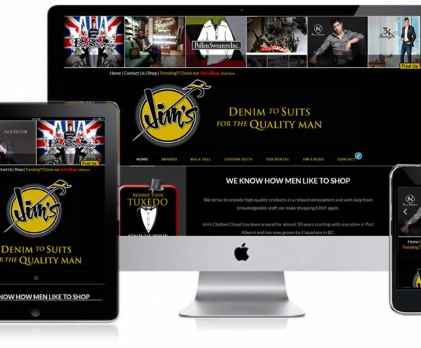 Jim's Clothes Closet Responsive Website Design