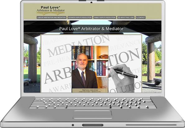 Paul Love Arbitrator Website Design