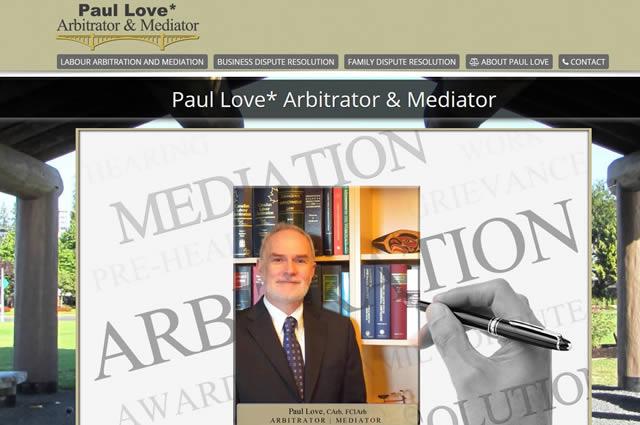 Lawyer Website Design - Paul Love
