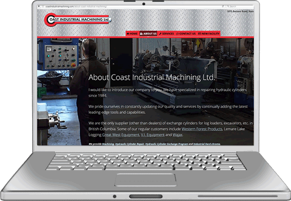 coast Industrial Machining Website Design